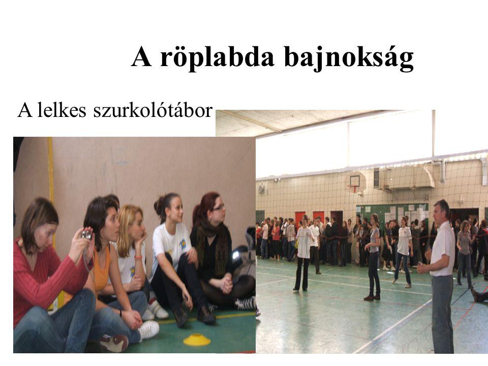 A röplabda bajnokság A lelkes szurkolótábor