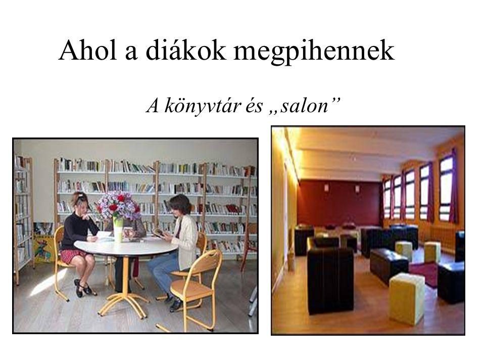 """Ahol a diákok megpihennek A könyvtár és """"salon"""""""