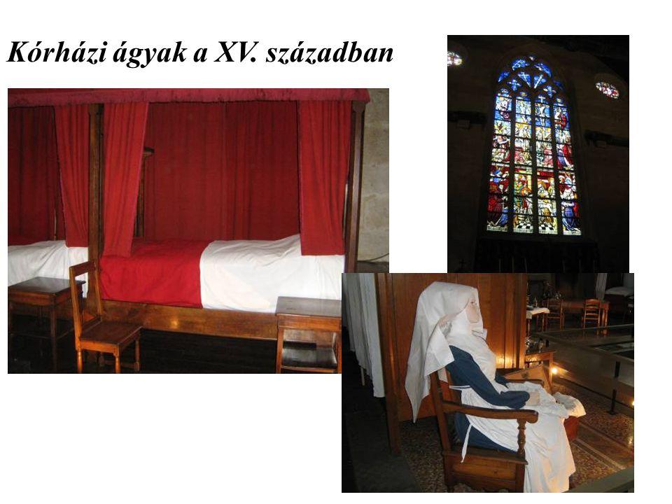 Kórházi ágyak a XV. században