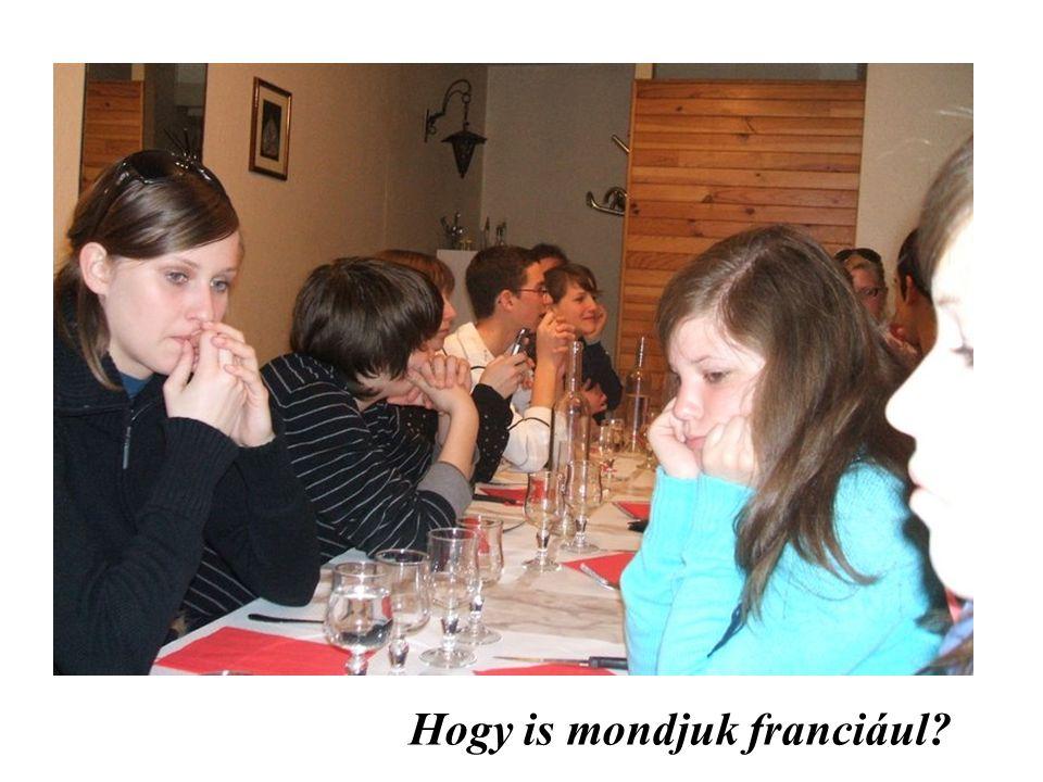 Hogy is mondjuk franciául?