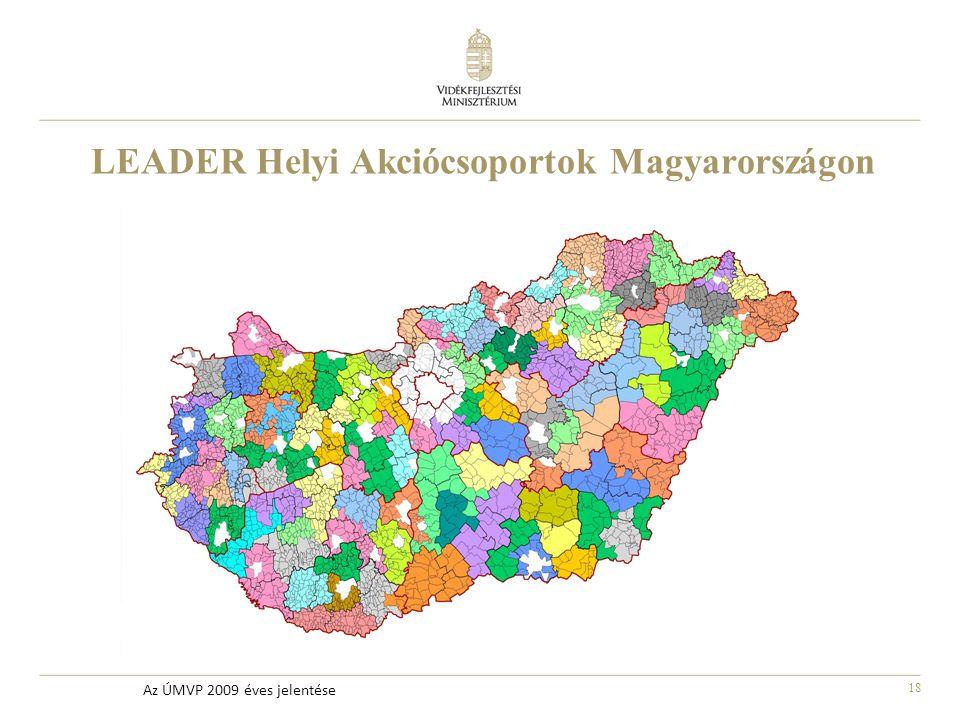 18 Az ÚMVP 2009 éves jelentése LEADER Helyi Akciócsoportok Magyarországon