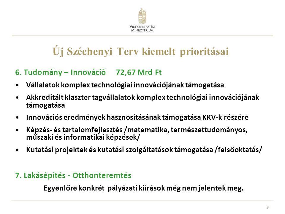 9 Új Széchenyi Terv kiemelt prioritásai 6.