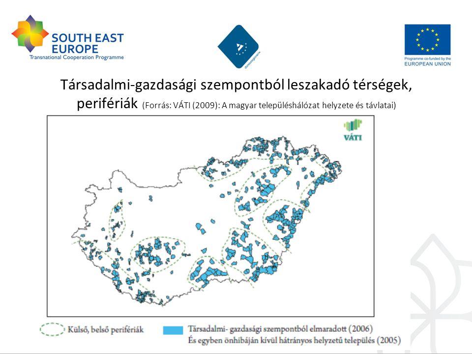 Magyarország demográfiai helyzete Európában (First ESPON 2013 Synthesis Report, EU 2010)