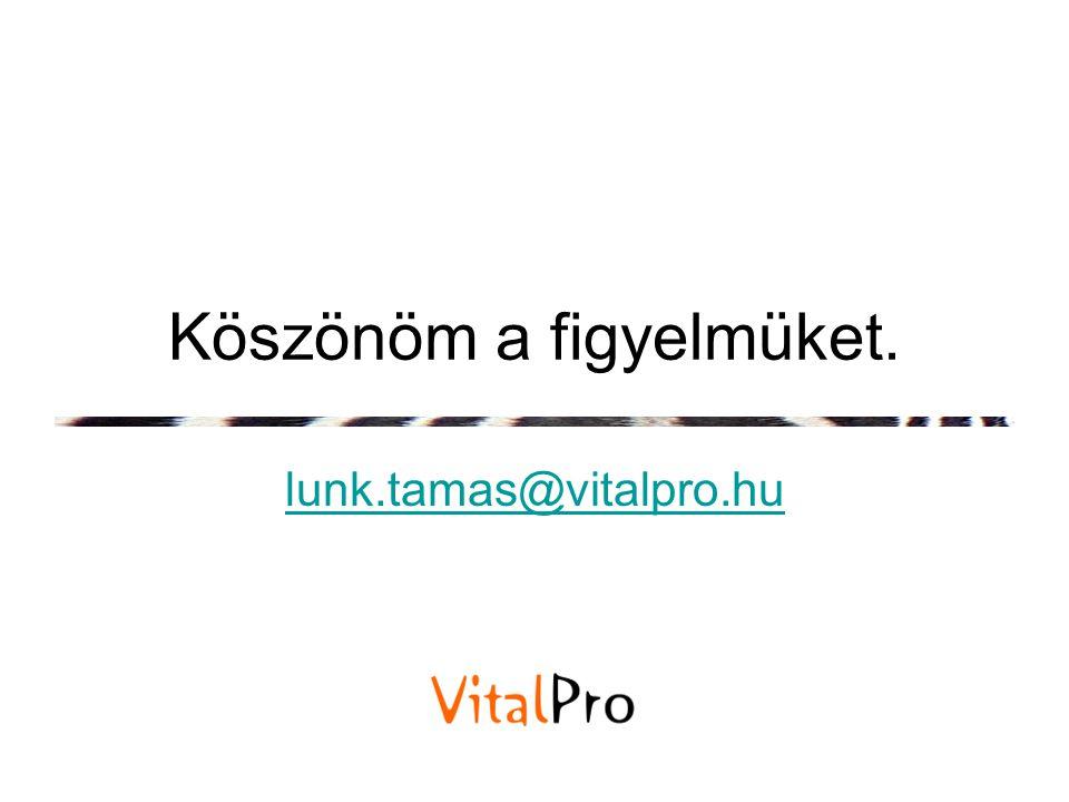 Köszönöm a figyelmüket. lunk.tamas@vitalpro.hu