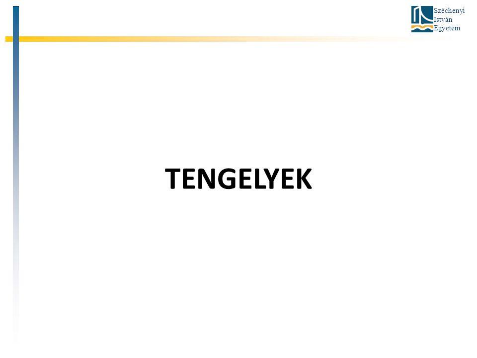 Széchenyi István Egyetem TENGELYEK
