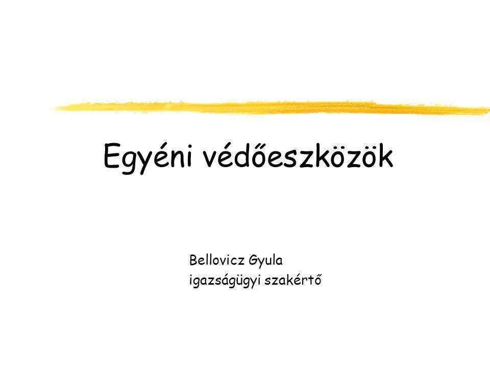 Egyéni védőeszközök Bellovicz Gyula igazságügyi szakértő