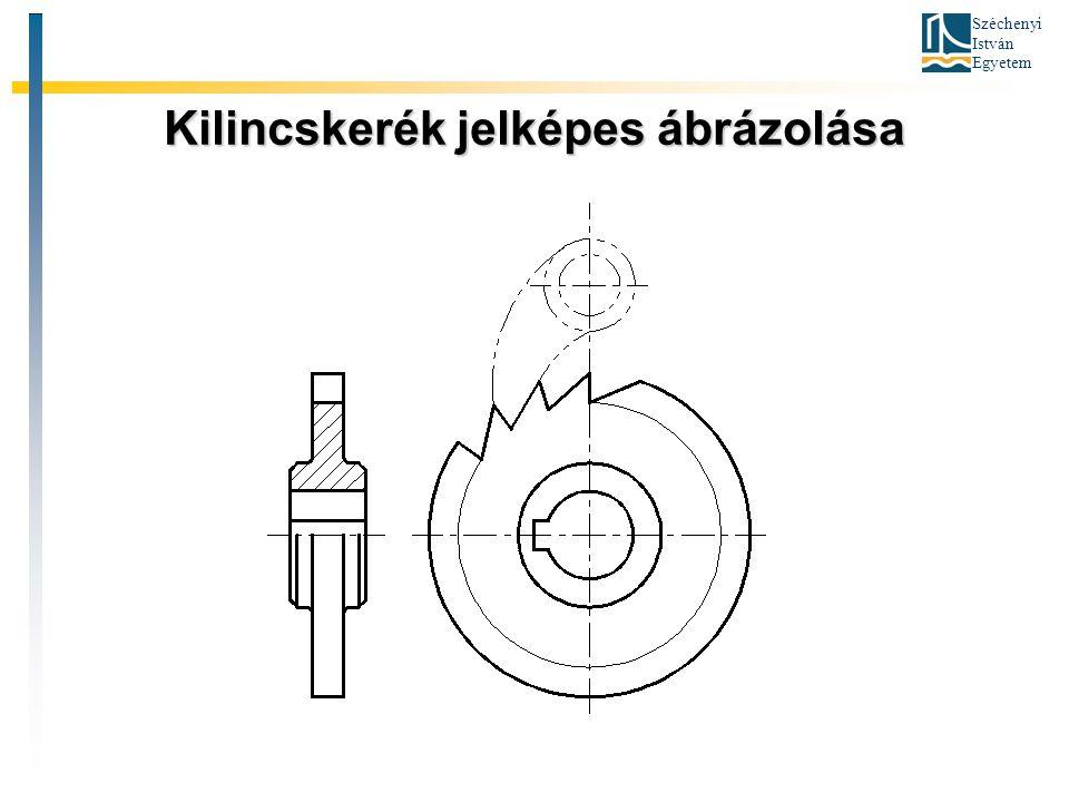 Széchenyi István Egyetem Kilincskerék jelképes ábrázolása