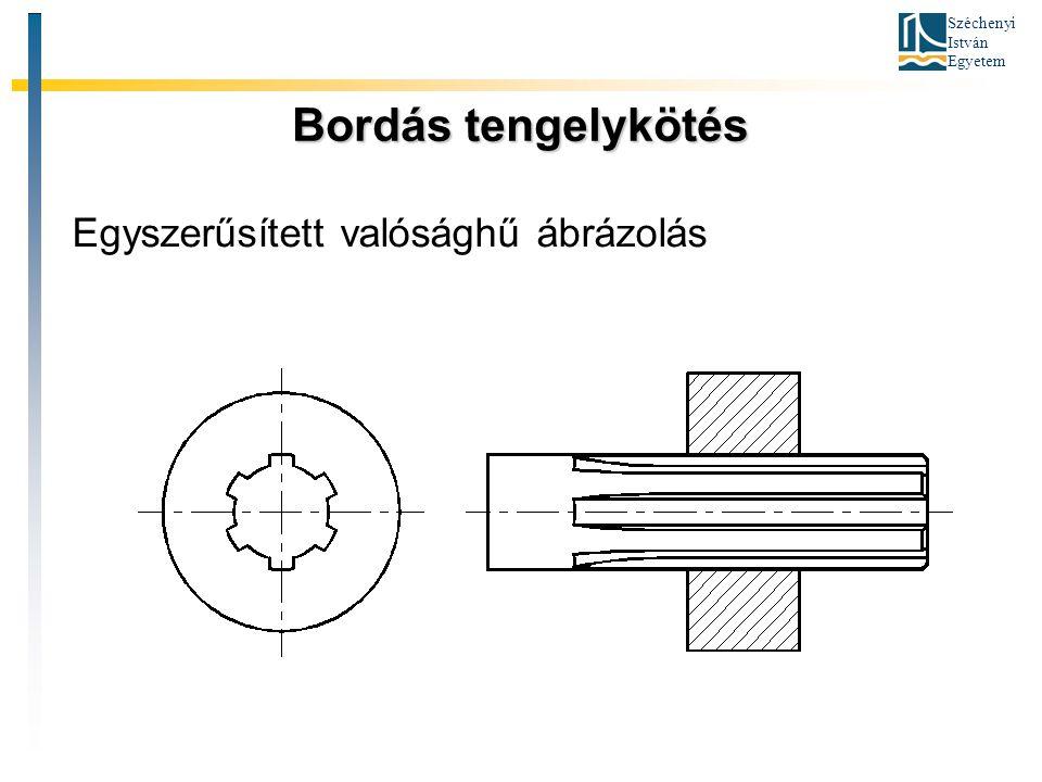 Széchenyi István Egyetem Bordás tengelykötés Egyszerűsített valósághű ábrázolás