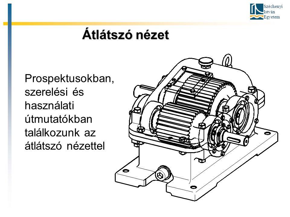 Széchenyi István Egyetem Robbantott ábra Robbantott ábra Ezt a módot főként műszaki leírásokban, üzembe helyezési és használati útmutatókban, termékkatalógusokban használjuk