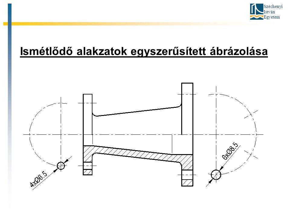 Széchenyi István Egyetem Ismétlődő alakzatok egyszerűsített ábrázolása