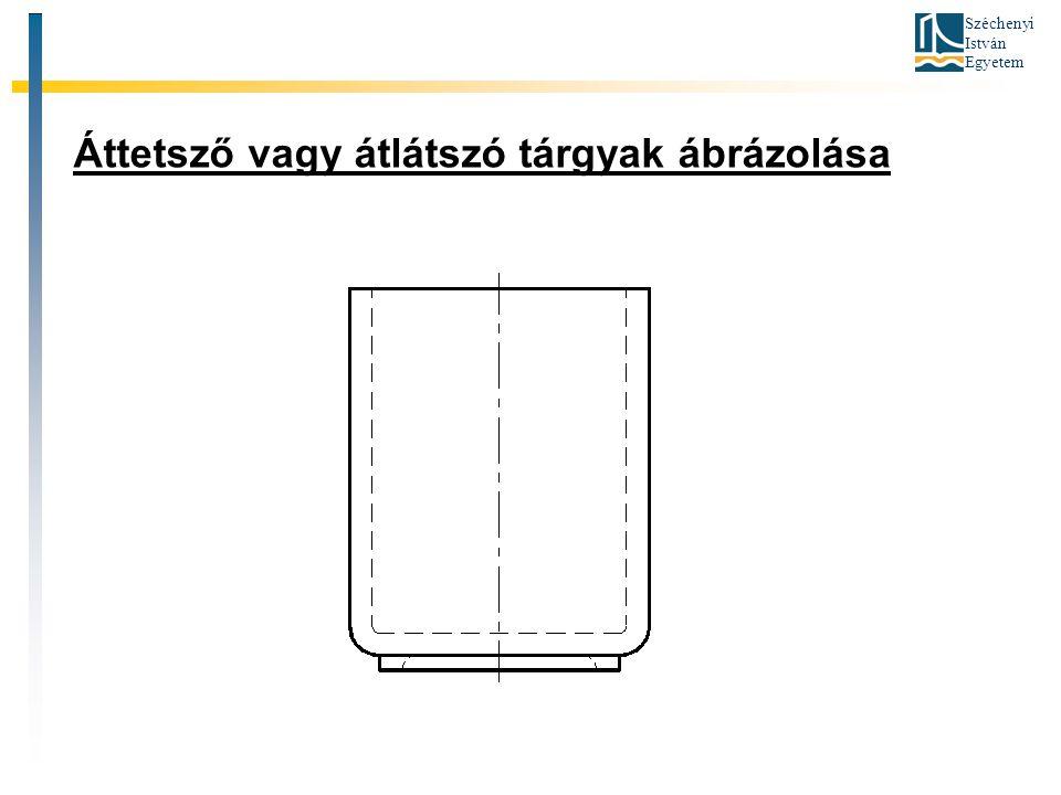 Széchenyi István Egyetem Áttetsző vagy átlátszó tárgyak ábrázolása