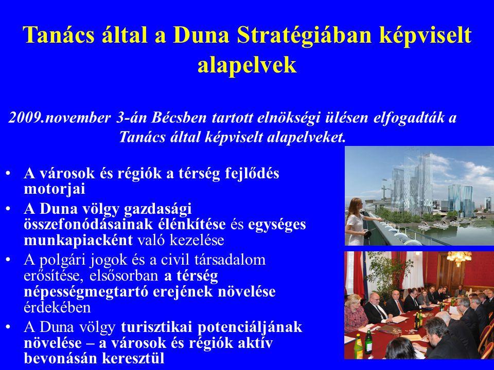 A városok és régiók a térség fejlődés motorjai A Duna völgy gazdasági összefonódásainak élénkítése és egységes munkapiacként való kezelése A polgári j