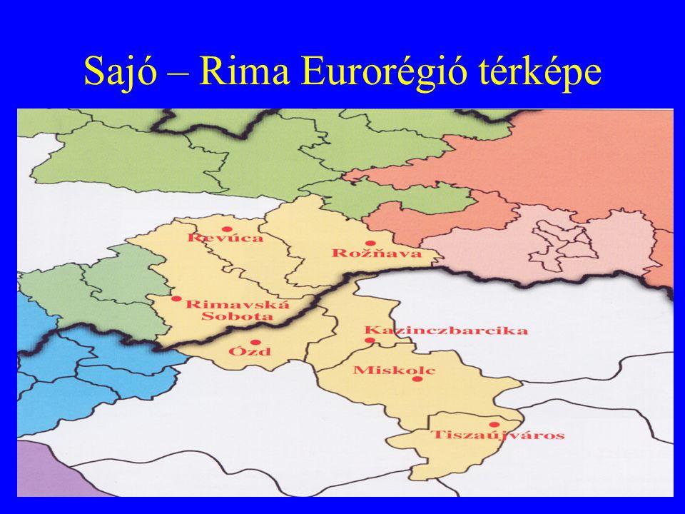 Sajó – Rima Eurorégió térképe
