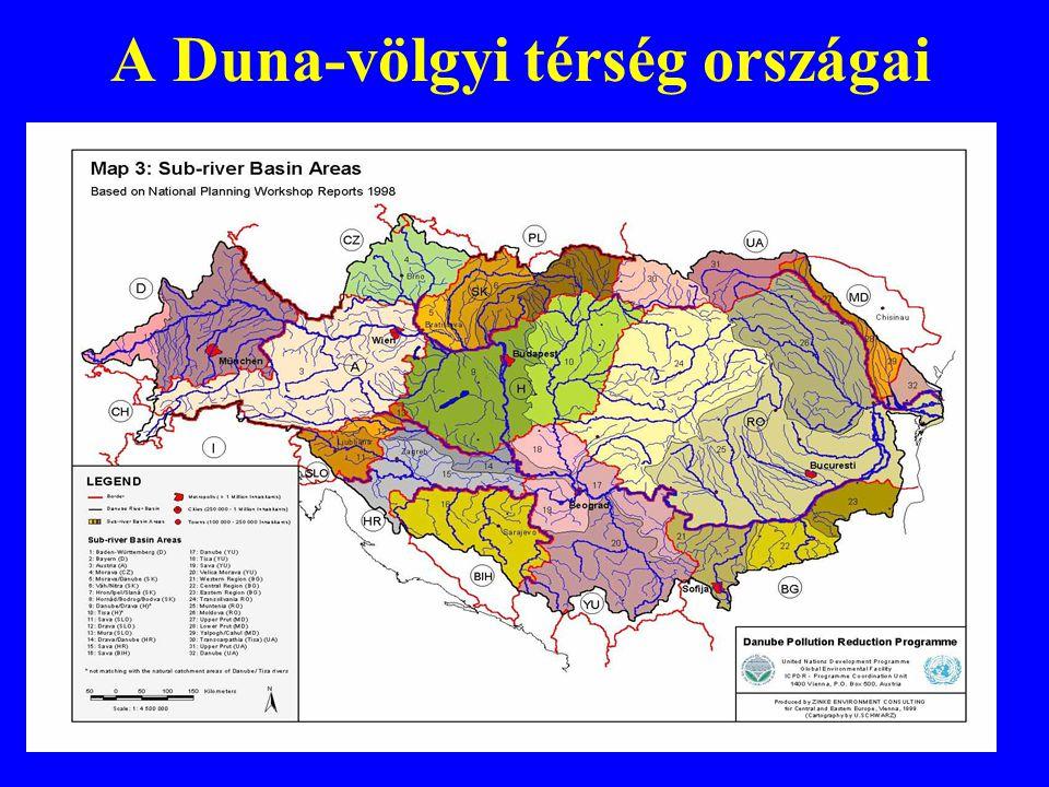 A Duna-völgyi térség jellemzői 14 országot érint –8 EU tagállam –6 tagjelölt, illetve potenciális partner 260 millió főnyi népesség Kulturális és nyelvi sokszínűség Gazdasági és tudományos potenciál Interregionális és transznacionális kapcsolatok