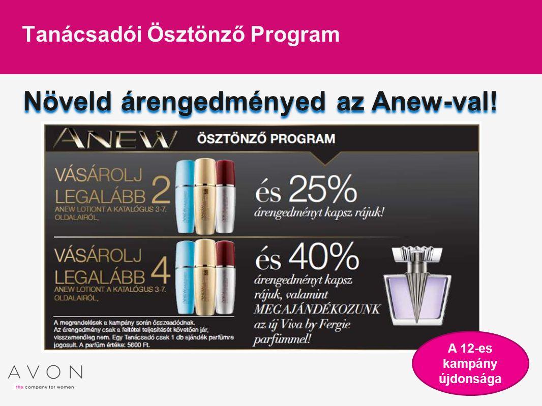 Növeld árengedményed az Anew-val! Tanácsadói Ösztönző Program A 12-es kampány újdonsága