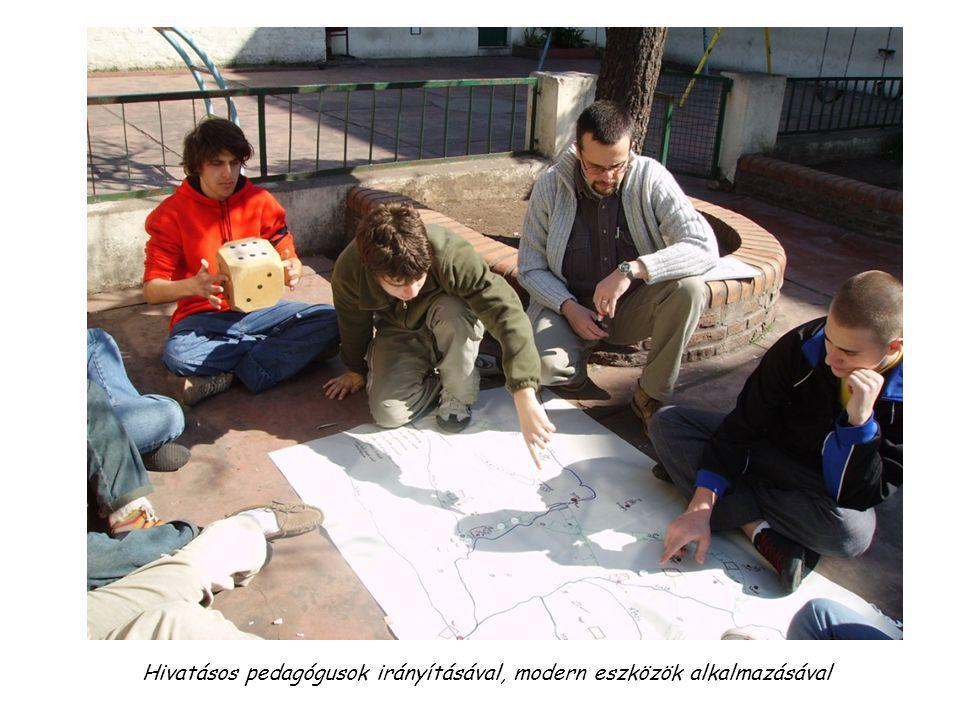 Hivatásos pedagógusok irányításával, modern eszközök alkalmazásával