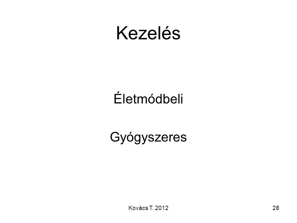 Kezelés Életmódbeli Gyógyszeres 28Kovács T. 2012