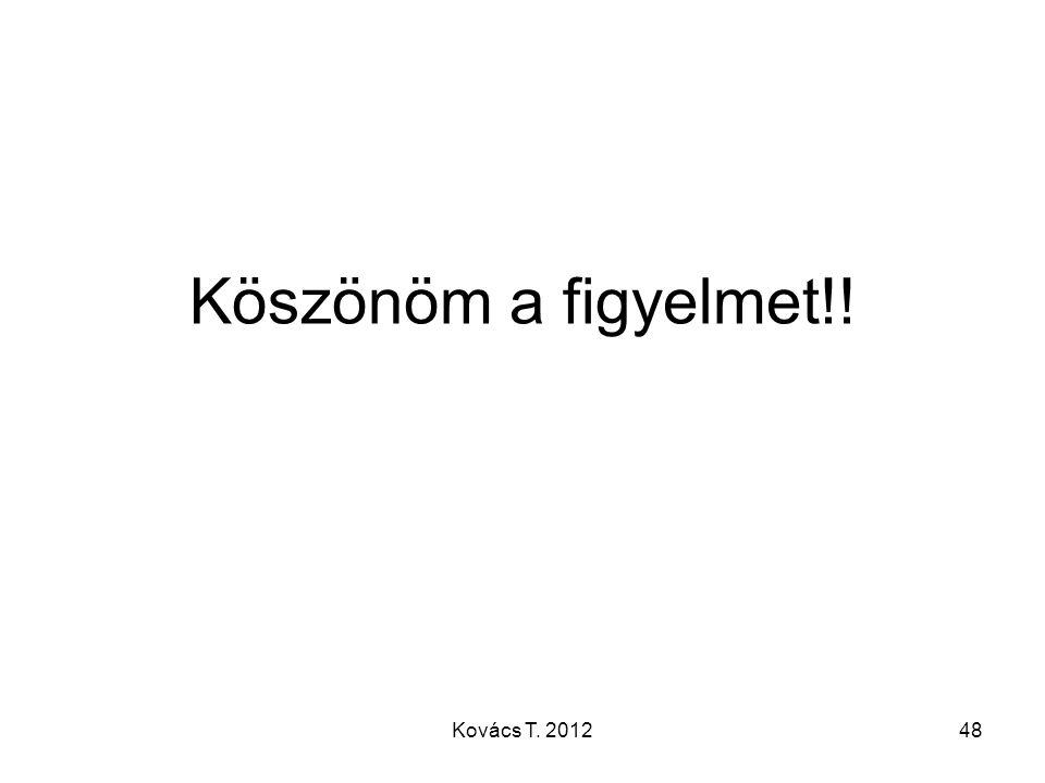 Köszönöm a figyelmet!! 48Kovács T. 2012