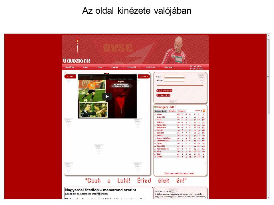 Oldaltérkép Piros keret: Nem elkészült, de betervezett tartalom Sárga keret: védett tartalom