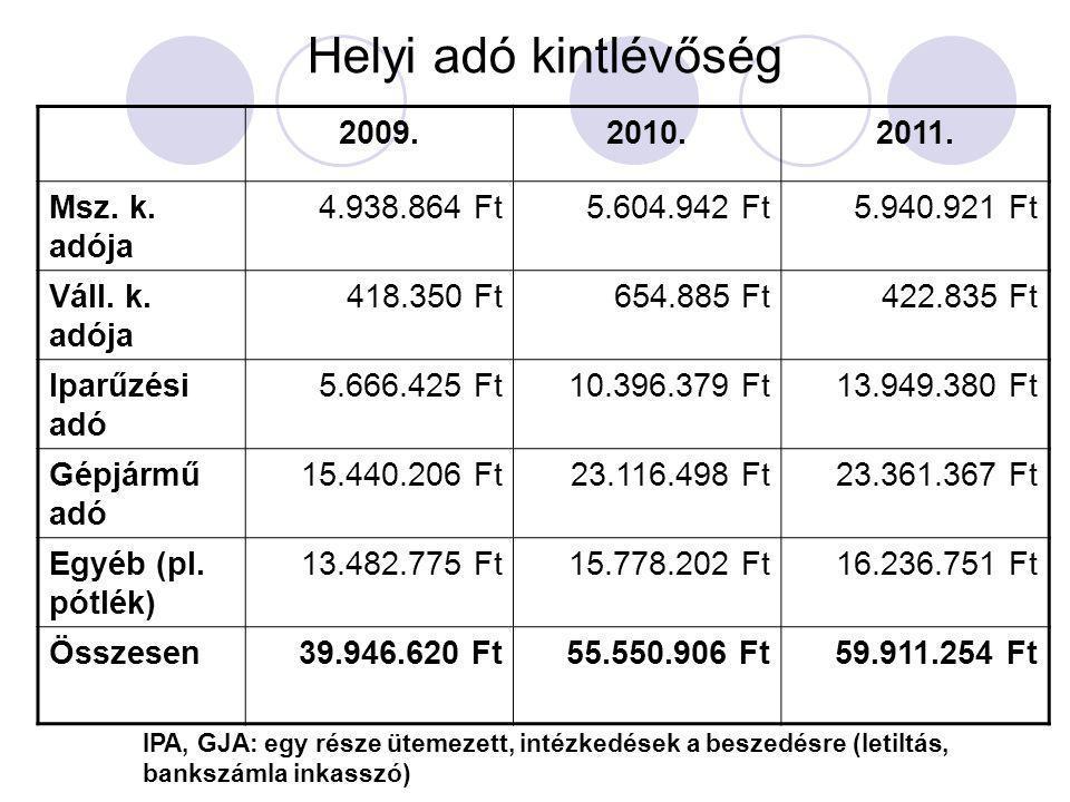 Vagyon alakulása Tájékoztató adat (2011.szeptember 30.) MérlegsorMegnevezés2010.
