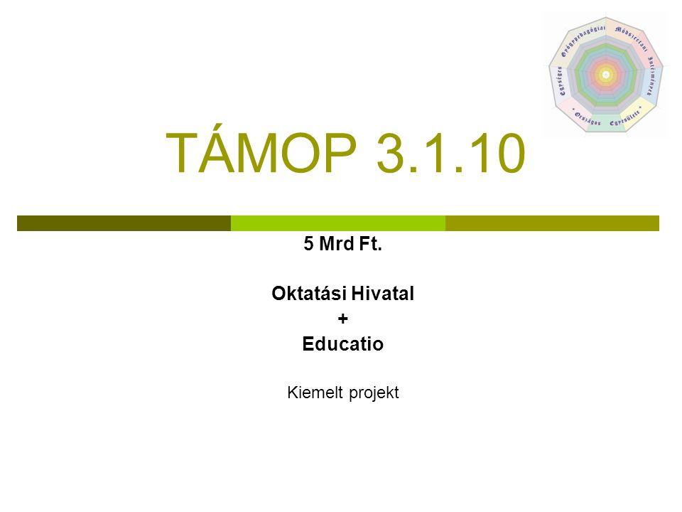TÁMOP 3.1.10 5 Mrd Ft. Oktatási Hivatal + Educatio Kiemelt projekt