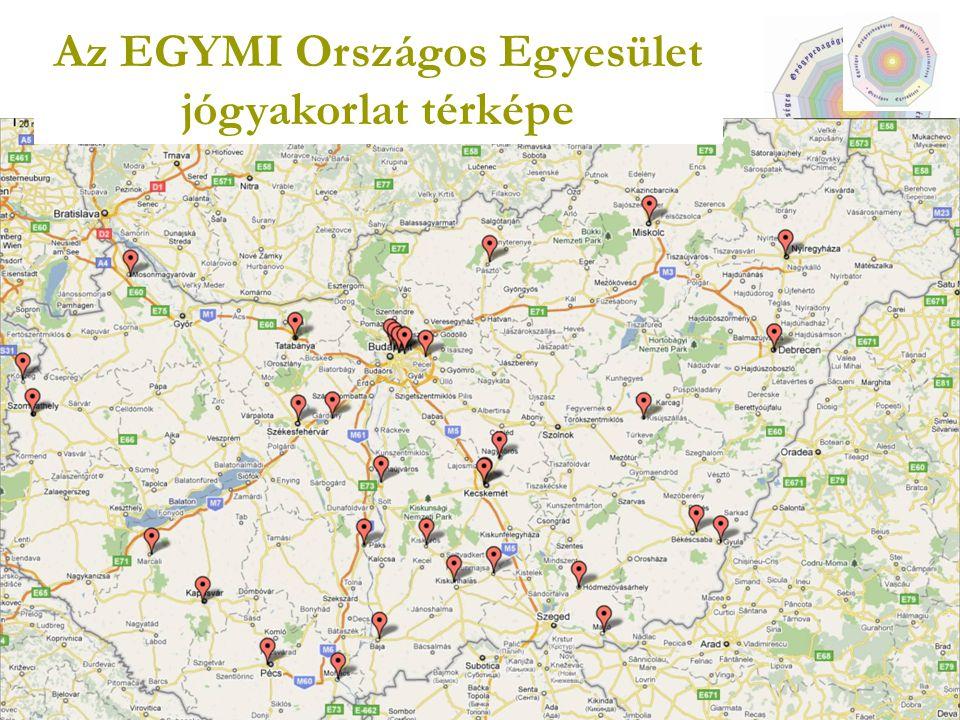 5 Az EGYMI Országos Egyesület jógyakorlat térképe