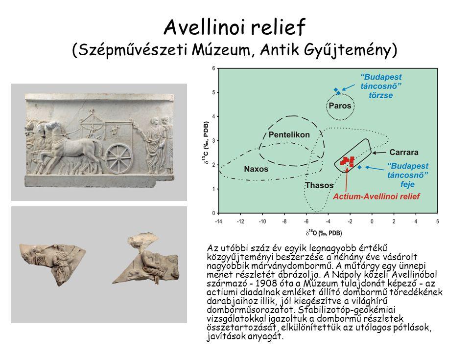 Avellinoi relief (Szépművészeti Múzeum, Antik Gyűjtemény) Az utóbbi száz év egyik legnagyobb értékű közgyűjteményi beszerzése a néhány éve vásárolt na