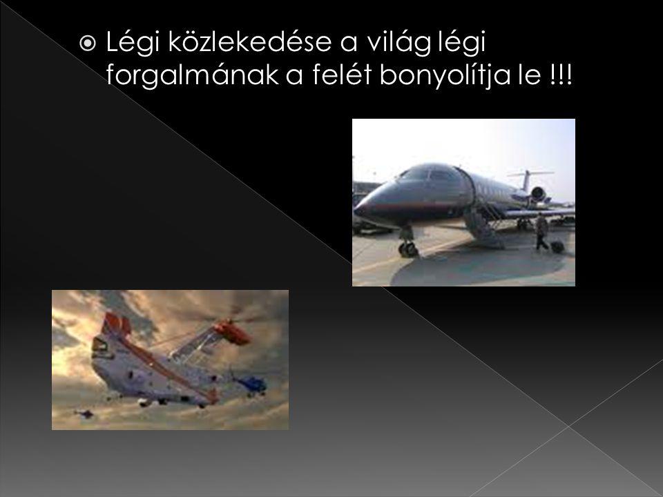  Légi közlekedése a világ légi forgalmának a felét bonyolítja le !!!