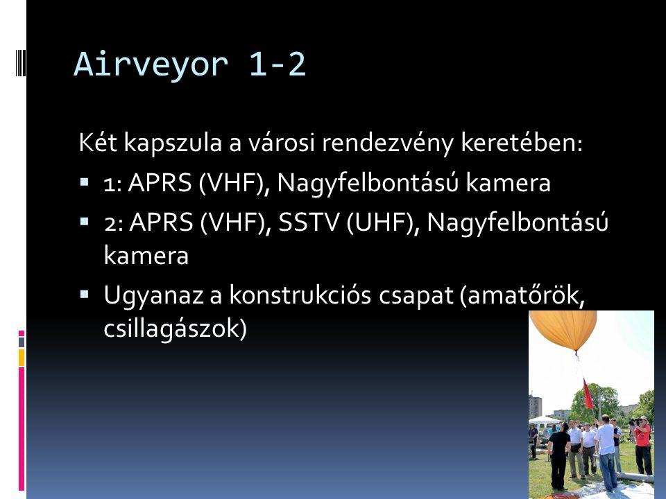 Airveyor 1-2 Két kapszula a városi rendezvény keretében:  1: APRS (VHF), Nagyfelbontású kamera  2: APRS (VHF), SSTV (UHF), Nagyfelbontású kamera  Ugyanaz a konstrukciós csapat (amatőrök, csillagászok)