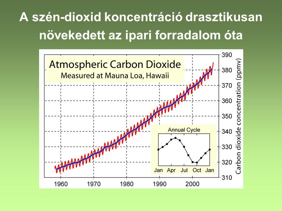 Kiderült, hogy a szén-dioxidon kívül más üveghatású gázokat is a légkörbe juttatunk Metán ▬► szerves anyagok bomlása (rizsföldek, hulladéklerakók) Dinitrogén-oxid N 2 O ▬►biomassza tüzelés, fluidizációs kazán, katalizátoros autók, nitrogén műtrágya használat Klór-fluór-karbon gázok ▬►hűtőgépek, oldószerek, habosítók