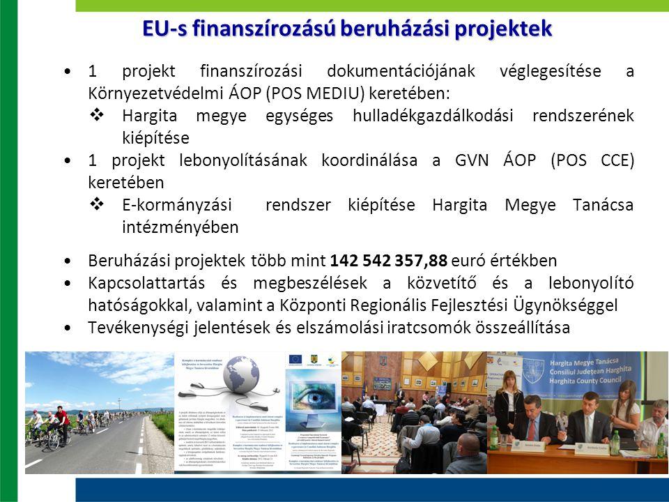 1 projekt finanszírozási dokumentációjának véglegesítése a Környezetvédelmi ÁOP (POS MEDIU) keretében:  Hargita megye egységes hulladékgazdálkodási r