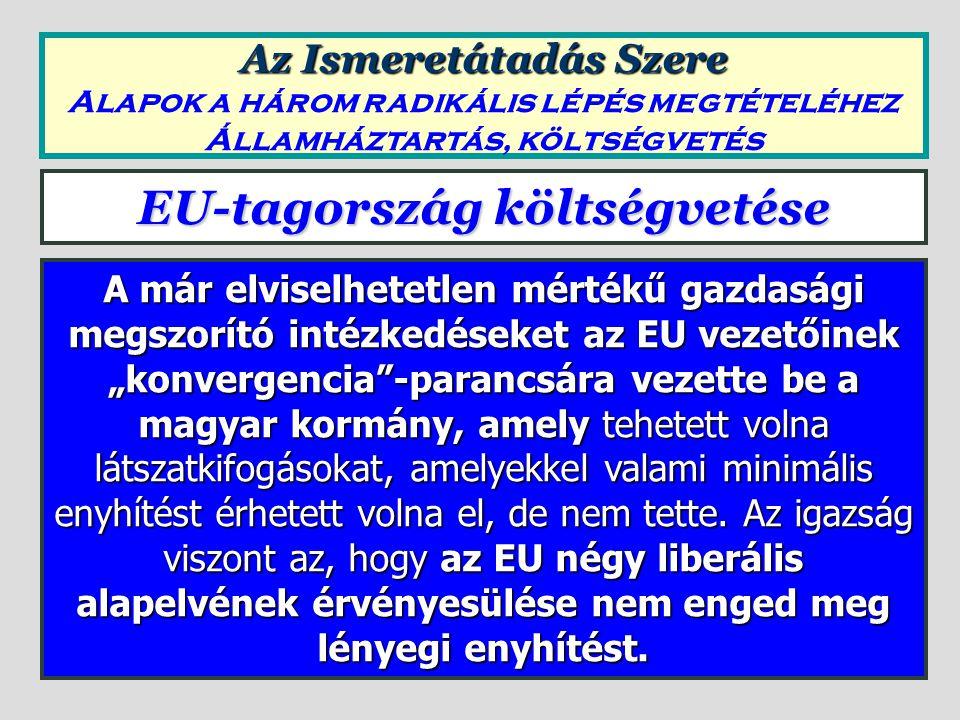 A négy liberális alapelv hatása Azt, hogy az EU négy liberális alapelv mennyire a multinacionális cégek (szolgáltatás is) monopóliumát erősíti, és azt, hogy az EU tulajdonképpen mennyire a kiszolgálója annak a háttérhatalomnak, amely a multinacionális cégekkel szoros kapcsolatban van, nem lehet jobban jellemezni, mint az EUM 106.
