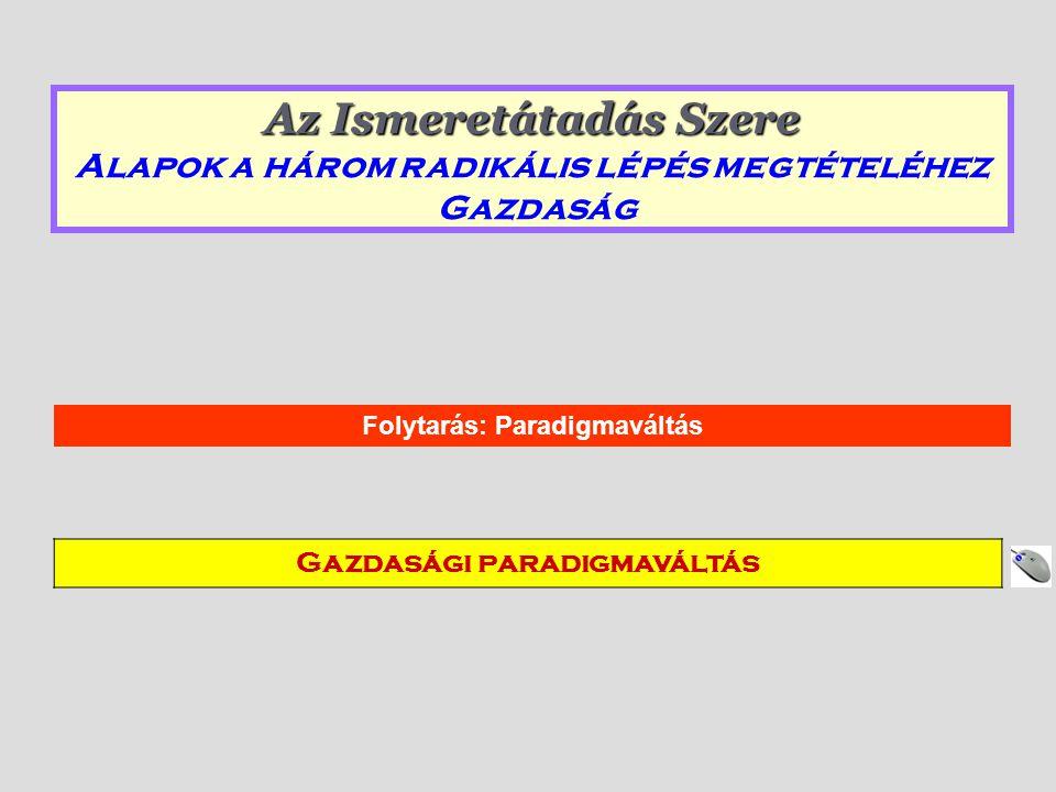Folytarás: Paradigmaváltás Gazdasági paradigmaváltás