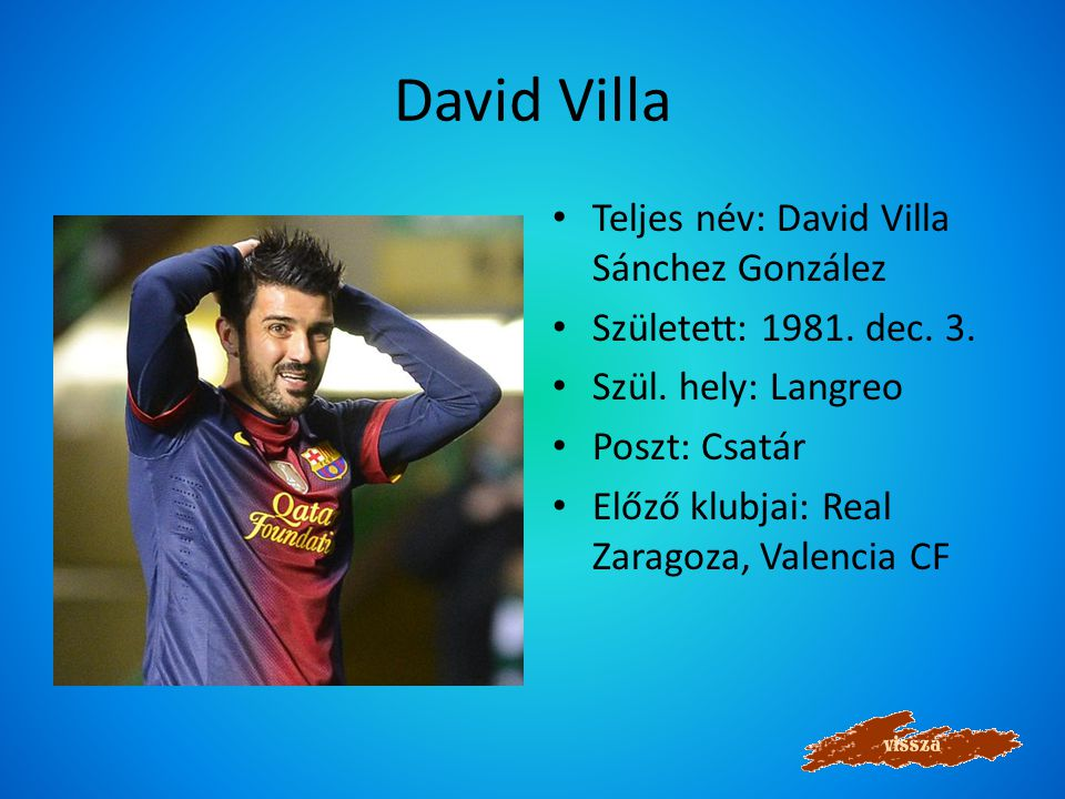 Lionel Messi Teljes név: Lionel Andrés Messi Született: 1987.