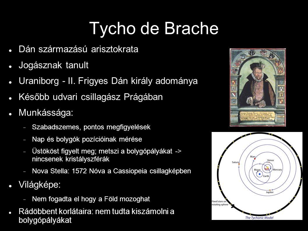 Tycho de Brache Dán származású arisztokrata Jogásznak tanult Uraniborg - II.