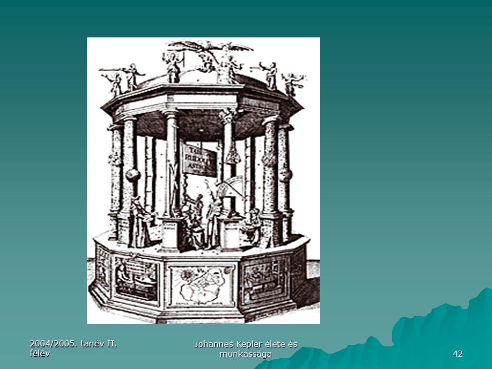 2004/2005. tanév II. félév Johannes Kepler élete és munkássága 42