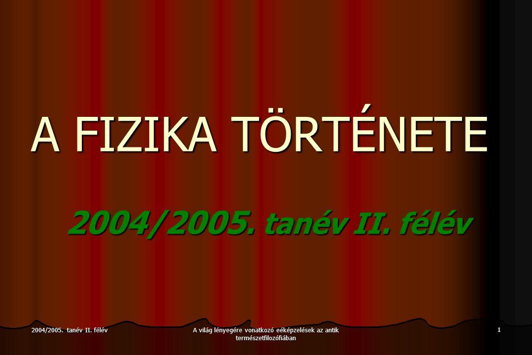2004/2005.tanév II.