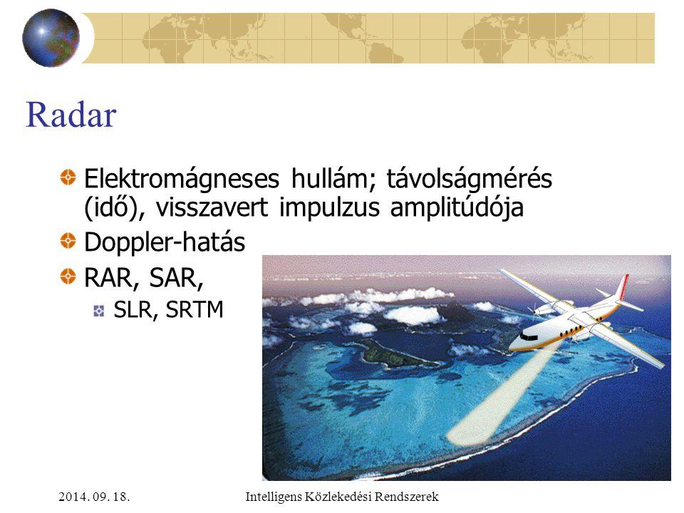 2014. 09. 18.Intelligens Közlekedési Rendszerek Űrfelvételek – multispektrális képek kiértékelésének alapelve