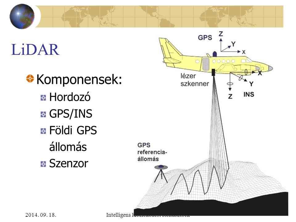 2014. 09. 18.Intelligens Közlekedési Rendszerek Radar e/h Előnyök Nagy adatgyűjtési terület Jó pontosság Időjárás-független Hátrányok Utófeldolgozás i
