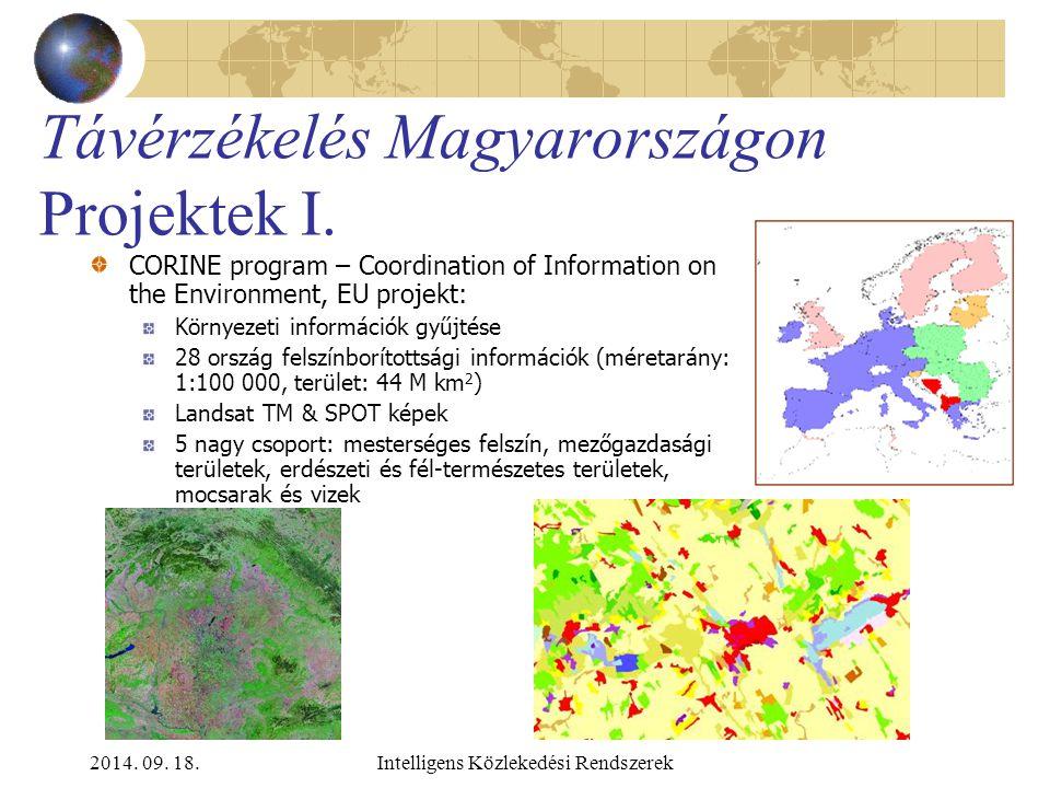 2014. 09. 18.Intelligens Közlekedési Rendszerek Távérzékelés Magyarországon Űrfelvételek II. Kutatási célok Pilot projekt IKONOS képek alkalmazására a