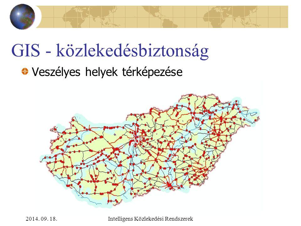 2014. 09. 18.Intelligens Közlekedési Rendszerek GIS - közlekedésbiztonság Közlekedési korlátozások térképezése Súlykorlátozás Sebességkorlátozás Időta