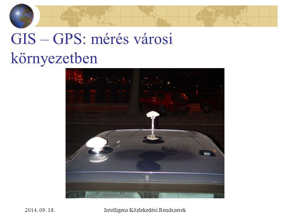 2014. 09. 18.Intelligens Közlekedési Rendszerek GIS – GPS: elemzés