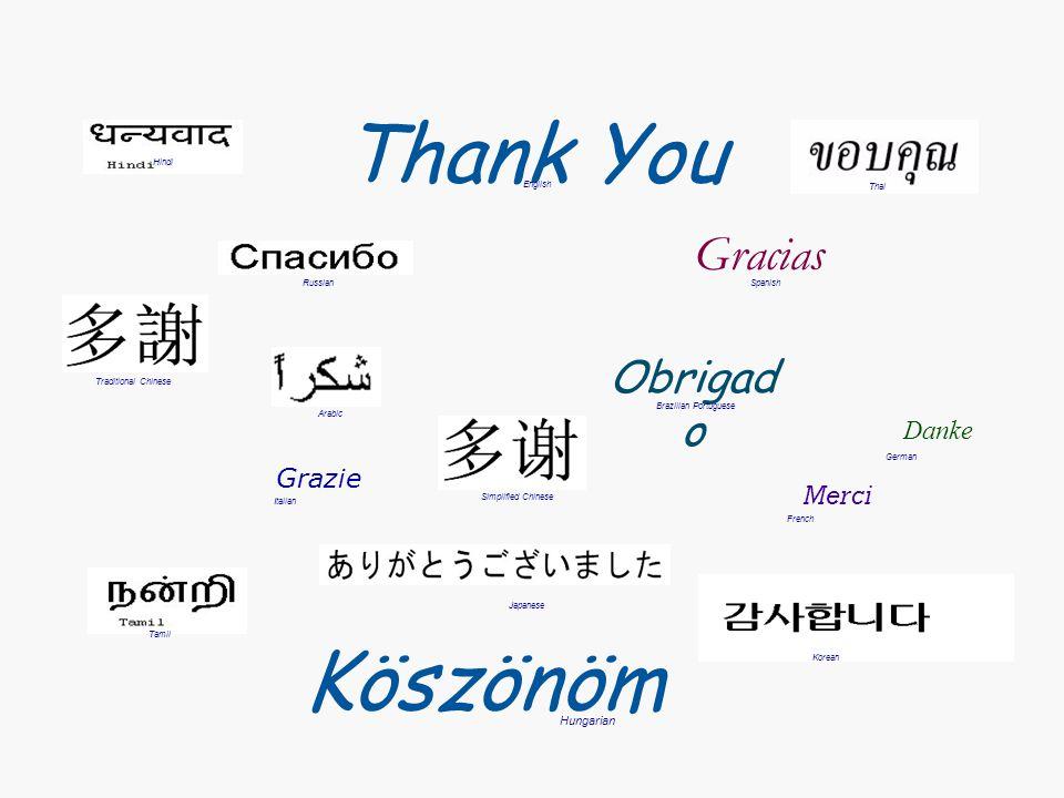 Thank You Merci Grazie Gracias Obrigad o Danke Japanese English French Russian German Italian Spanish Brazilian Portuguese Arabic Traditional Chinese