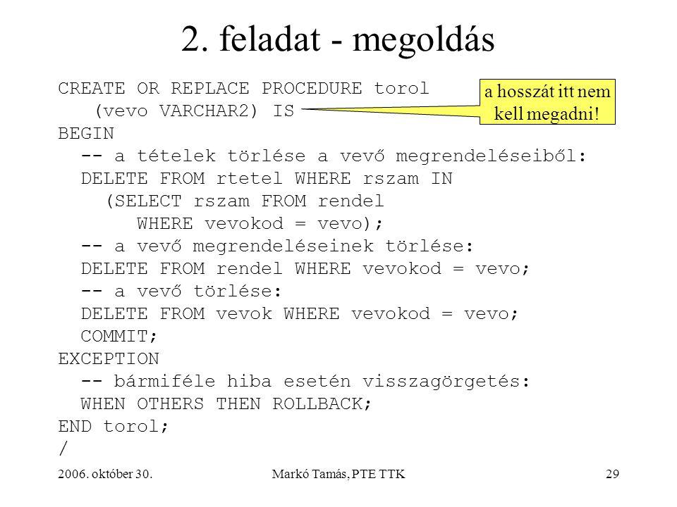 2006. október 30.Markó Tamás, PTE TTK29 2.
