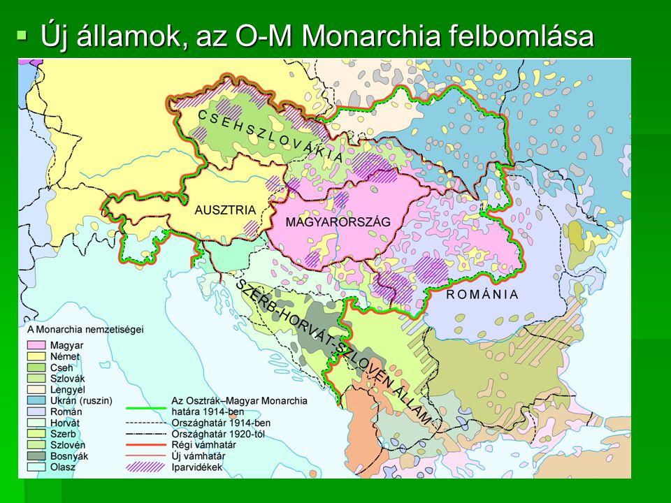  Új államok, az O-M Monarchia felbomlása