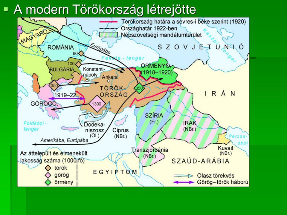  A modern Törökország létrejötte