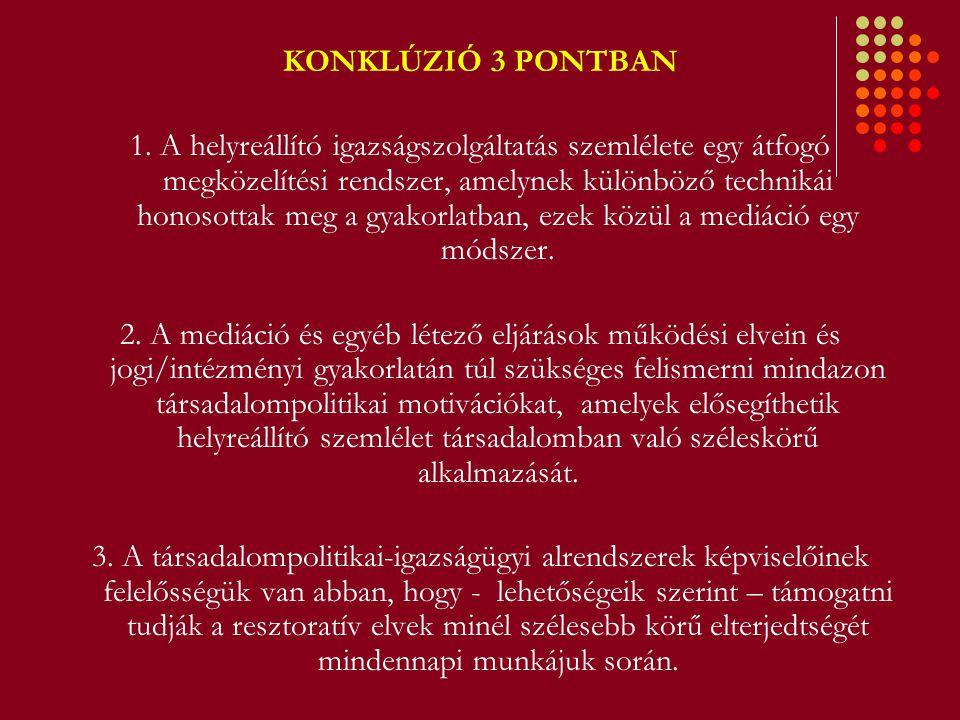 KONKLÚZIÓ 3 PONTBAN 1.