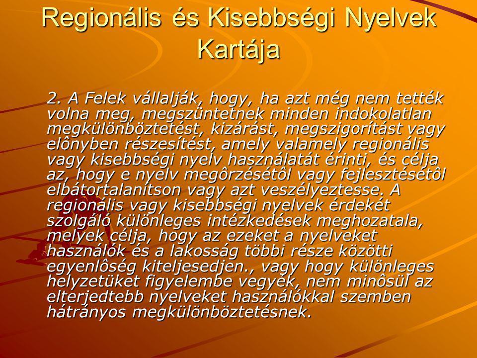 Regionális és Kisebbségi Nyelvek Kartája 2.