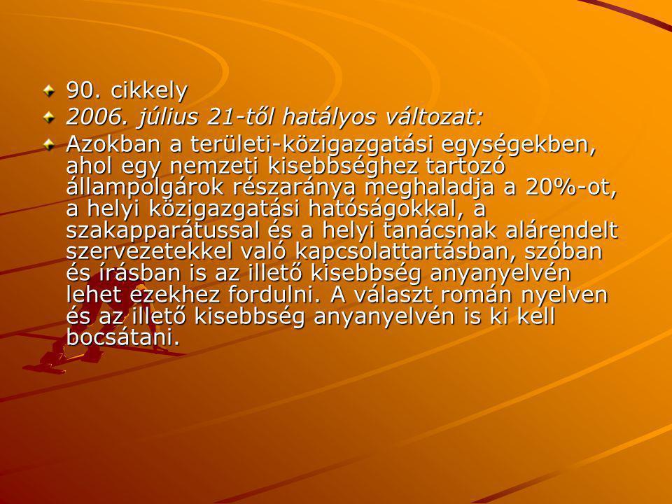 90. cikkely 2006.