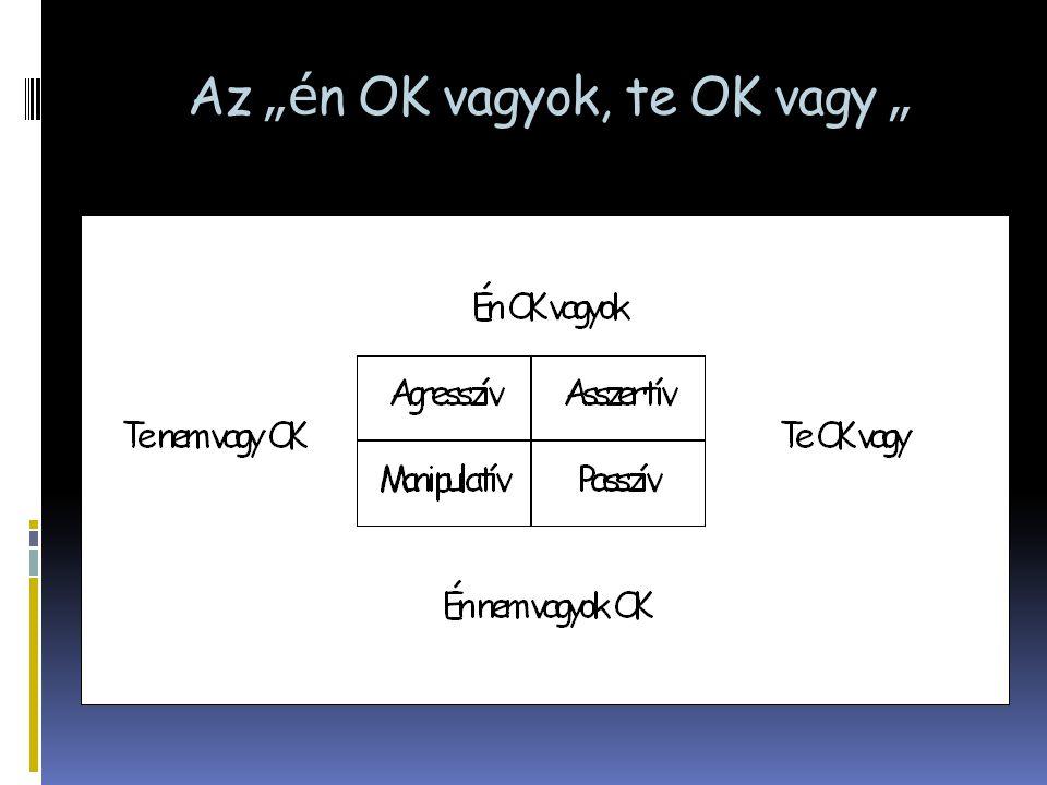 """Az """"é n OK vagyok, te OK vagy """""""